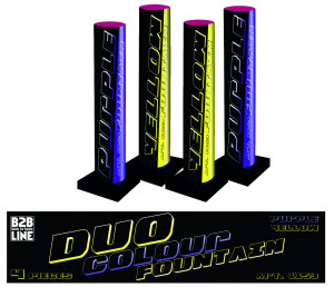 B2B Duo Colour Fontain 4 stuks